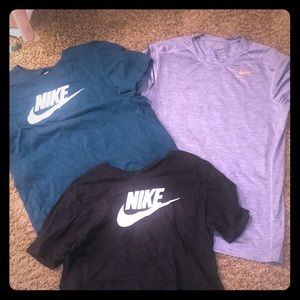 THREE NIKE SHIRTS
